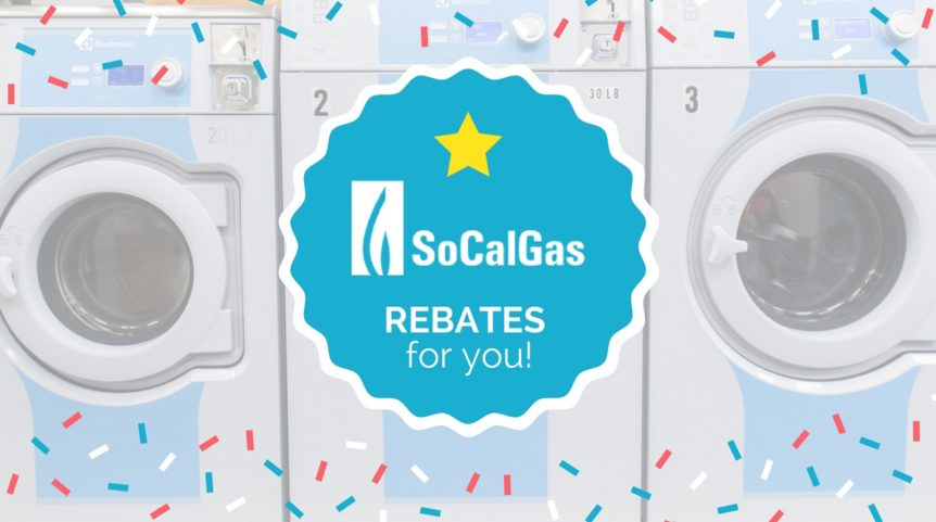 SoCalGas water heater rebate blogpost header by Golden State Laundry Systems, California's #1 commercial laundry distributor, providing the best quality commercial laundry equipment, including washing machines, dryers, and ironers. We proudly serve businesses throughout California, from San Francisco to Los Angeles and San Diego. Golden State Laundry Systems can outfit your laundromat business with the best coin laundry machines. We also provide the best on-premises laundry solutions for commercial laundries, hotels, hospitals, restaurants, and more. Golden State Laundry Systems only sells the best brands: Electrolux, Wascomat, Crossover, Whirlpool and ADC. Contact us today! Your satisfaction is our guarantee.